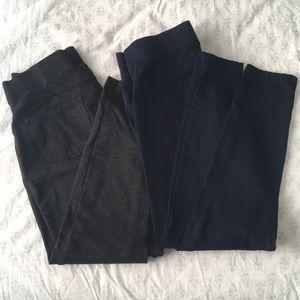 Two pairs Stretchy yoga pant slacks